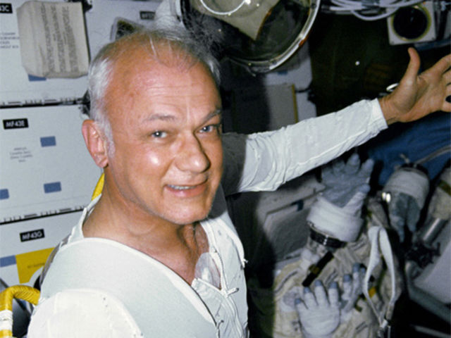 This photo is of astronaut Bruce Mccandleuss and was taken in 1984 as he tested the Manned Maneuvering Unit at a distance of 320 feet from the spacecraft.
