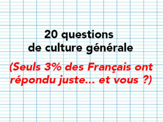 Culture générale 3 ans