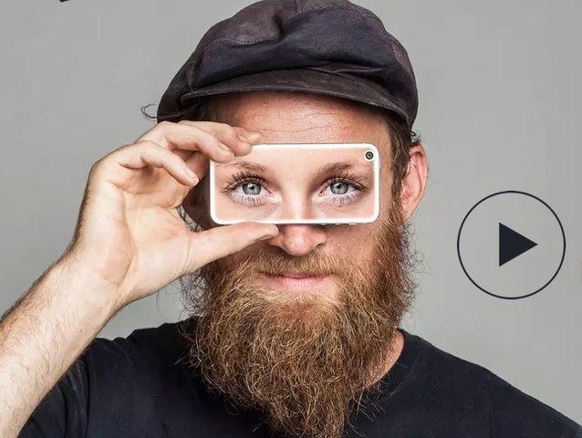 O app permite que qualquer pessoa possa emprestar sua visão por alguns minutos. O app é gratuito e funciona como um sistema de câmera que conecta deficientes visuais com voluntários e permite que por meio da fala e da imagem, problemas como identificar locais, fotos ou, por exemplo, o que diz uma placa ou data de validade de um produto sejam resolvidos facilmente.