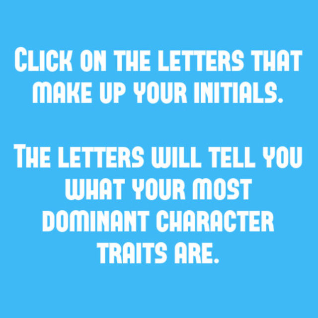personality letters