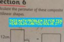 This Math Problem Is For Ten Year Olds - So Can You Solve It?
