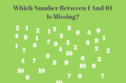 If You Can Count To 10 You SHOULD Be Able To Score 100% On These Missing Number Puzzles
